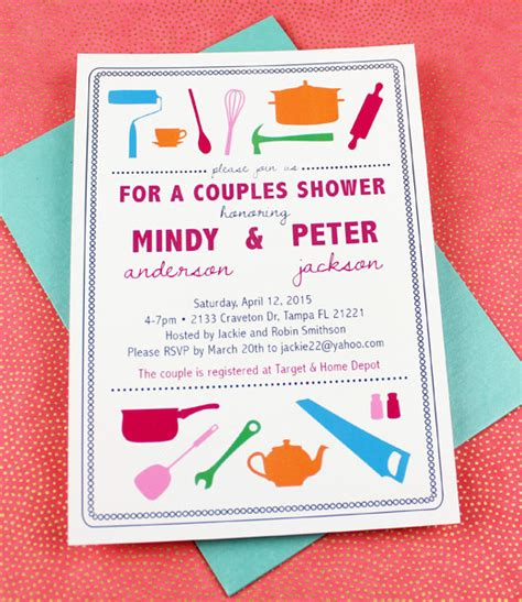 His And Hers Invitations Templates his and hers shower invitation template print