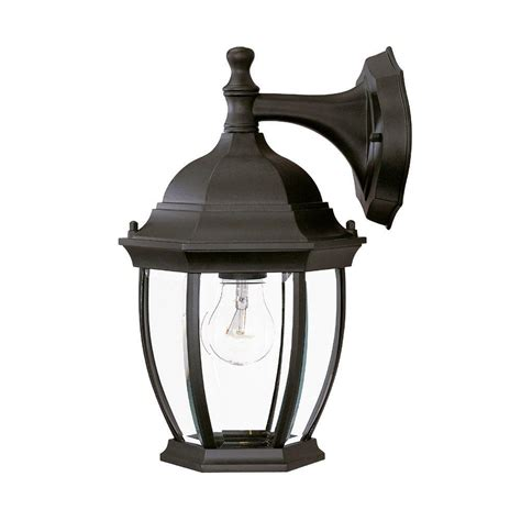 Outdoor Wall Mounted Light Fixtures Acclaim Lighting Wexford Collection 1 Light Matte Black Outdoor Wall Mount Light Fixture 5035bk