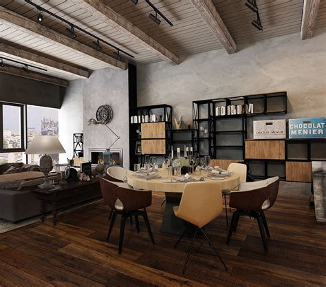 industrial home interior rustic industrial design interior design ideas