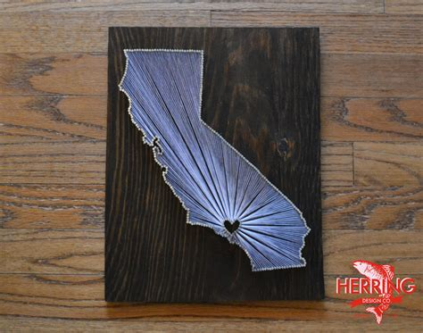 California String - stained california state string los angeles california