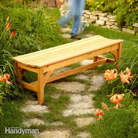 how to make a wooden garden bench how to build a garden bench the family handyman