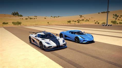 koenigsegg regera vs bugatti koenigsegg regera vs koenigsegg one 1 drag race forza