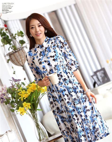 Dress Import Blue dress chiffon import ds4102 blue tamochi