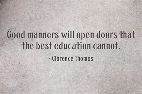 Education Open Doors by Quotes About Manners Quotesgram