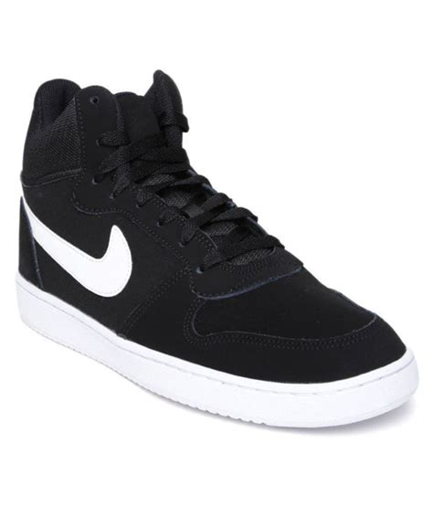 nike court borough mid sneakers black casual shoes buy