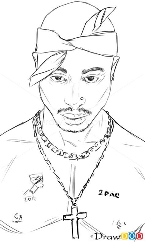 2pac Sketches by How To Draw Tupac Shakur Singers And