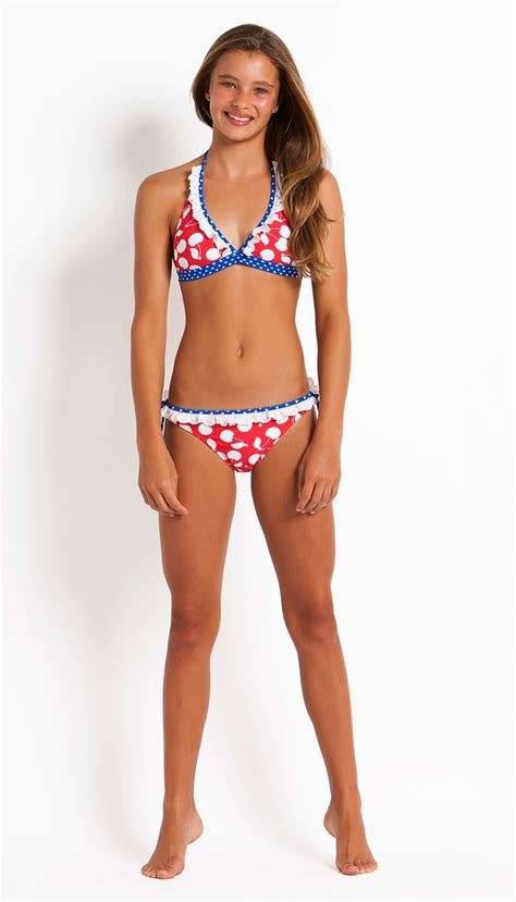 young teenagers ages 11 13 bikinis coco bay s seafolly sweet cherry halter bikini set is so