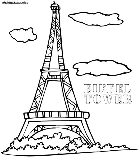 Eiffel Tower Coloring Pages Coloring Pages To Download Towers Coloring Page