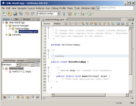 tutorial java using netbeans quot hello world quot for the netbeans ide the java tutorials