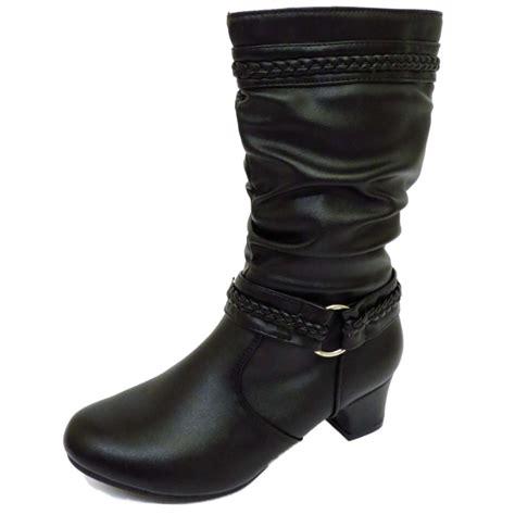 black zip up kitten heel ruched fashion