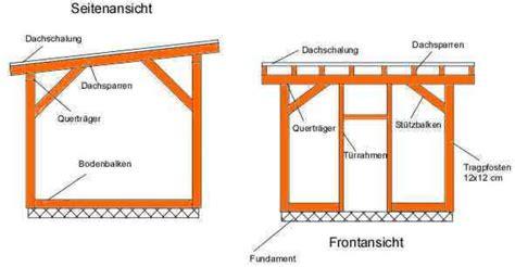 plissee selber bauen bauplan f 252 r gartenhaus mit pultdach my