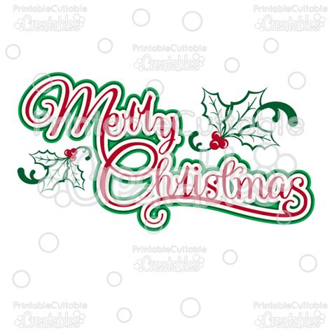 merry christmas titles merry title svg cutting file clipart