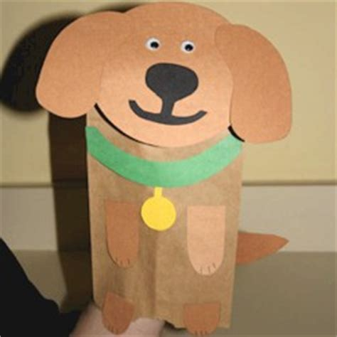 Paper Bag Craft - paper bag puppet