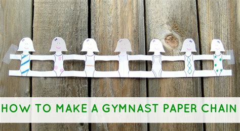 How To Make A Paper Chain - great diy projects for gymnasts