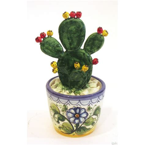 fico d india in vaso vaso fico d india medio ceramiche artistiche iride