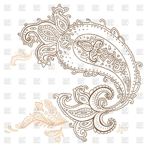 pattern tattoo vector henna paisley design element tracery for tattoo royalty