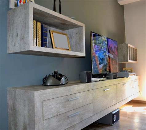 mueble de tv en melamina concreto metropolitan muebles  tv muebles roperos de melamina