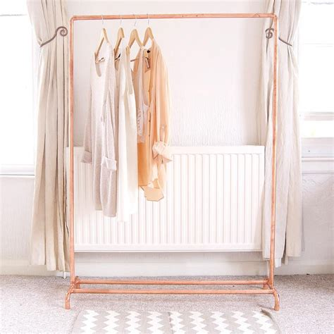 8 Cool Clothes Storage Items by Copper Pipe Clothing Rail Garment Rack Clothes Storage