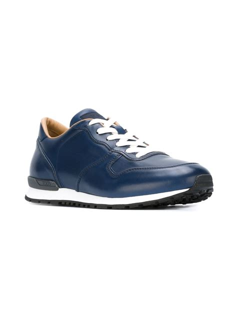 s sneakers lyst tod s low top sneakers in blue for