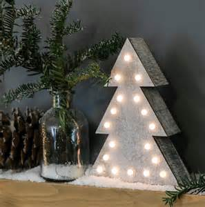 wooden battery light up christmas tree warm white leds