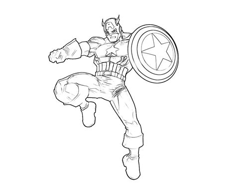 Printable Captain America Coloring Pages Coloring Me Captain America Color Page
