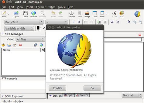 Desain Web Interaktif Dan Dinamis Dg Ms Frontpage Wahana Komputer 3 software open source pengganti dreamweaver di linux