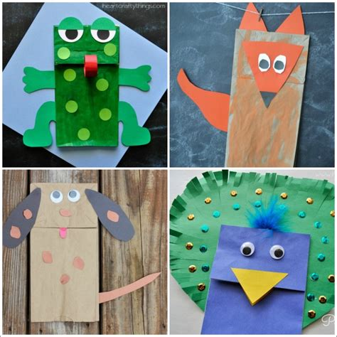 How To Make Paper Craft Animals - 20 paper bag animal crafts for i crafty things