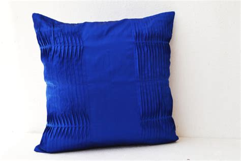 Decorative Throw Pillows Royal Blue Decorative Cushion Royal Blue Pillow Cover Cotton By
