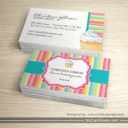 nd card templates business card templates studio whimsical cupcake business