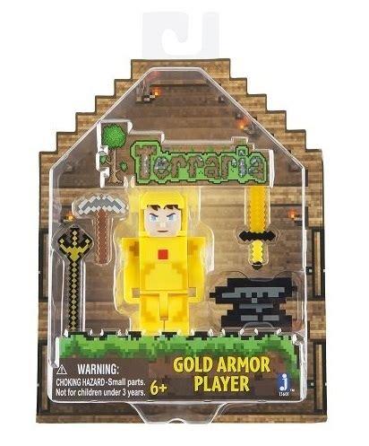 Terraria Gold Armor Player Series 1 Figure New Sealed 2015 terraria gold armour player figure at mighty ape australia