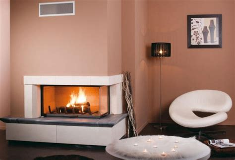 ultra modern corner fireplace design ideas