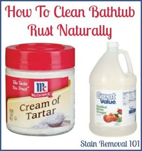 clean bathtub naturally removing rust stains from bathtub natural home remedies