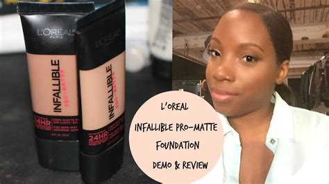 review demo l oreal evercurl l oreal infallible pro matte foundation demo review
