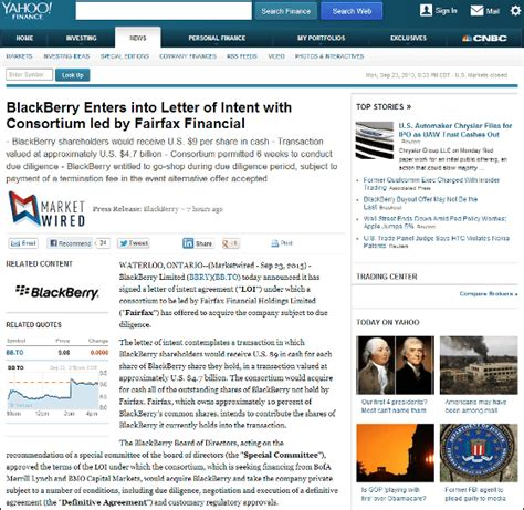 Fairfax Financial Letter To Shareholders Blackberryが全株式を4600億円で投資会社に売却 Gigazine