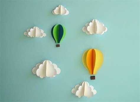 3d Wall Decor by Air Balloon Wall Decal Paper Wall Wall Decor 3d