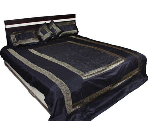 Buy Bed Covers Buy Sequence Work Black Bed Cover Set