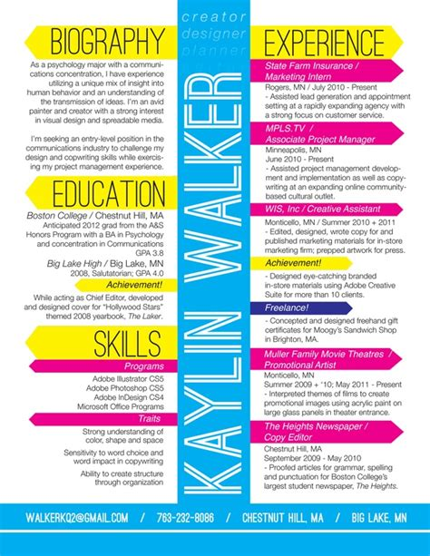 kaylin walker amazing resume design