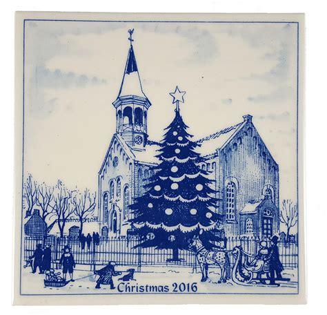 christmas ornaments delft blue and white 2016 tile blue and white delft ceramic 2016 kerstmis tile blue and white delft