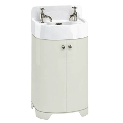 arcade 500mm cloakroom basin vanity unit sand colour buy