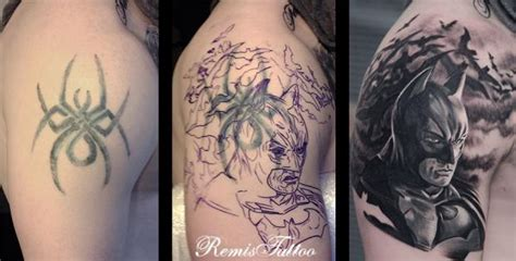 batman cover tattoo if you had a bad tattoo this is how you save it