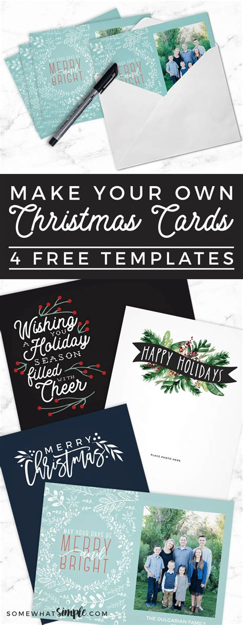 print your own christmas cards templates best samples templates