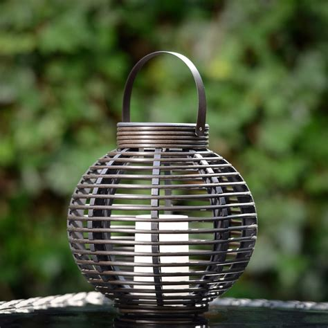 rattan lights rattan solar lantern lights candle effect garden patio