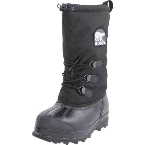 black sorel boots sorel mens glacier boot in black for lyst