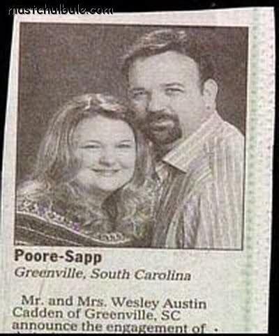 wedding announcement last names