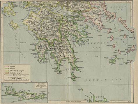 map of archaic greece nationmaster maps of greece 35 in total