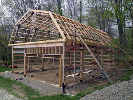 build  modified post  beam frame building  garage