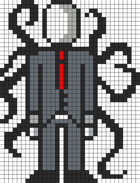 minecraft pixel template maker slenderman perler bead pattern pb ideas