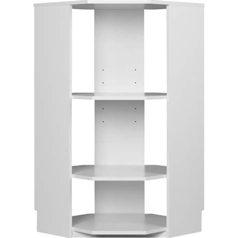 Corner Closet System Systembuild Closet Organizer Half Corner Unit White
