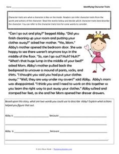 Identifying Character Traits Worksheet Free by Looking For Some Handy Tools To Help Your Students