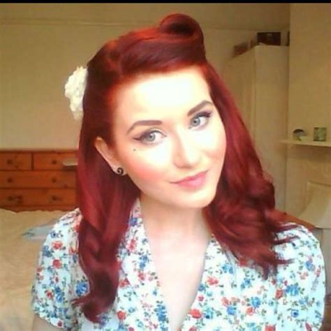 rockabilly bang curl one victory roll side swept magical hair dos